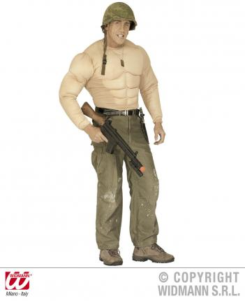 Super Muskelshirt - Muskelhemd Größe XL - Bodybuilder Hemd Kraft Kostüm