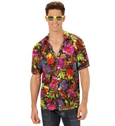 Hawaii Hemd - Hawaii shirt  in schwarz Gr XL  - S4311