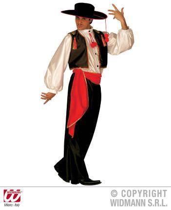 Spanier Kostüm Flamenco Tänzer Gr. L - Tanzkostüm Mann Spanien L