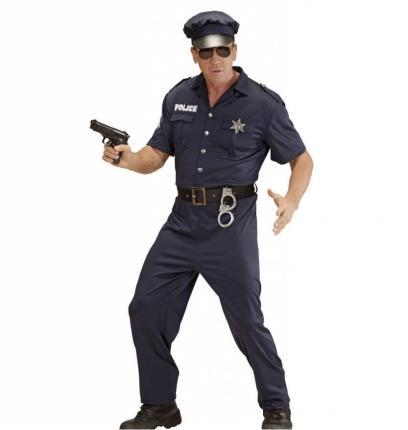 Kostüm Polizist - Cop Größe XL Streifenpolizist Männerkostüm XL