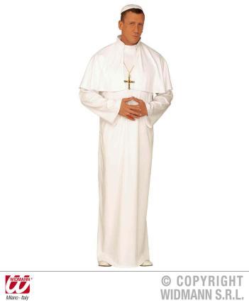 Kostüm Papst - Pope weiß Gr. L - Papa Kirchenverkleidung Bischof Kaplan Priester