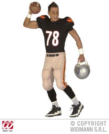 Kostüm American Football Star Gr. L