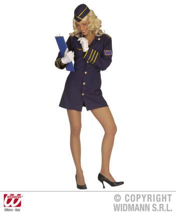 Stewardess Kostüm Größe L  Flugbegleiterin
