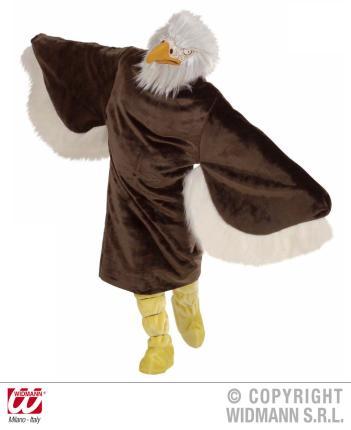 Plüsch Adler Kostüm - Tierverkleidung Geier Plüschkostüm Standardgröße
