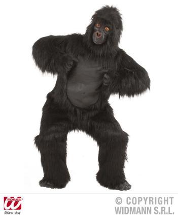 Plüsch Gorilla Kostüm schwarz Plüschkostüm Standardgröße