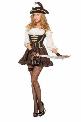 Wilbers Piratin Seeräuberin 36 - 56 Damenkostüm Piratin-Kleid Gr. 42 - L