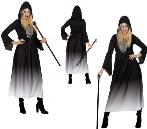 Halloween Kleid mit Kapuze Gr. 36 - 48 von Wilbers -  Verkleidung Fasching Dame Gr. 36 - S
