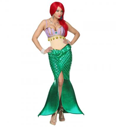 Damenkostüm Meerjungfrau - Kleid Wassernixe Verkleidung S - 34/36