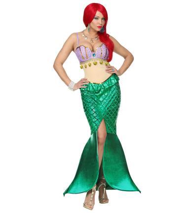 Damenkostüm Meerjungfrau - Kleid Wassernixe Verkleidung M - 38/40