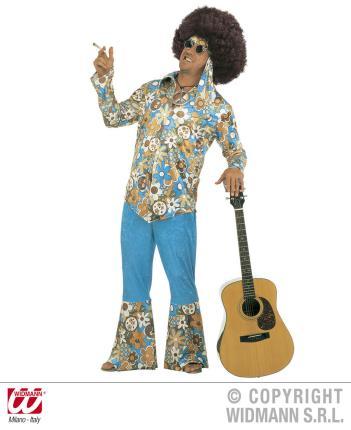 Hippy - Hippie Kostüm für Männer Gr. XXL - Samtlook 70er Jahre