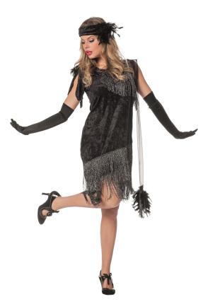 Wilbers Kostüm Charleston schwarz - Flapperkostüm Gr. 40