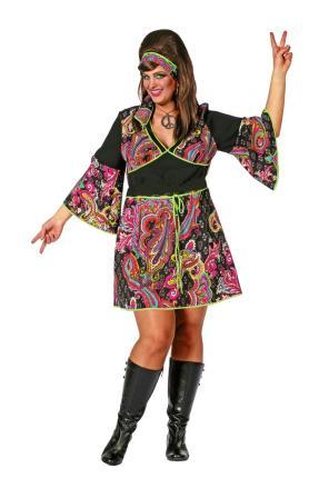 Wilbers Hippie Lady Kostüm Flower Power Gr. 52 - 70er Jahre