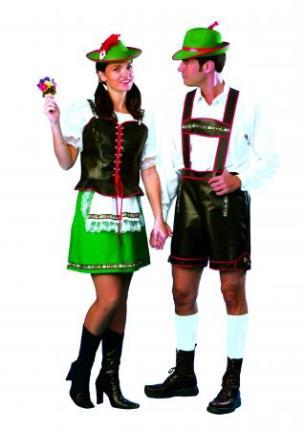 Kostüm Lederhose Tirol Gr. L - Tiroler Lederhose Oktoberfest Gr. 56-58