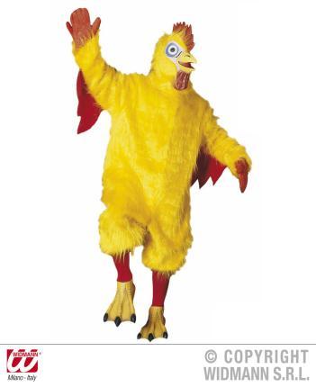 Plüsch Chicken Kostüm Huhn Plüschkostüm verrücktes Huhn Standardgröße