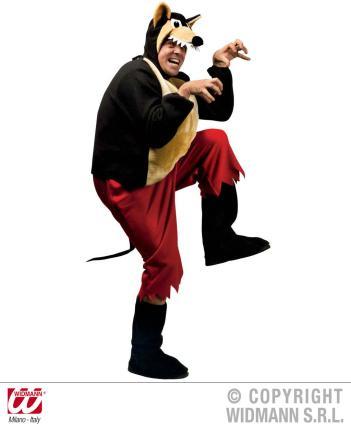 Kostüm böser schwarzer Wolf - Wolfskostüm Gr. M.