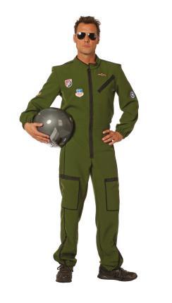 Wilbers Jet Pilot Kostüm Jetpilot Gr. 56  Kampfjetpilot Pilotenkostüm