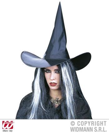 Hexenhut in schwarz - Hauberhut Halloween Hexen Hut