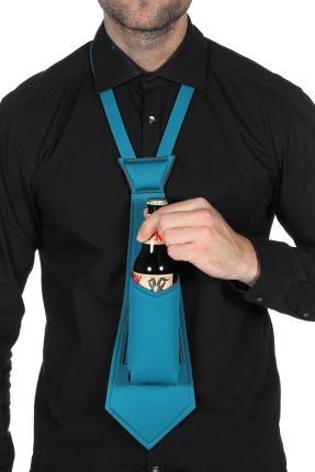 Krawatte Halter Bierflasche - Bierkrawatte - Partygag Bier