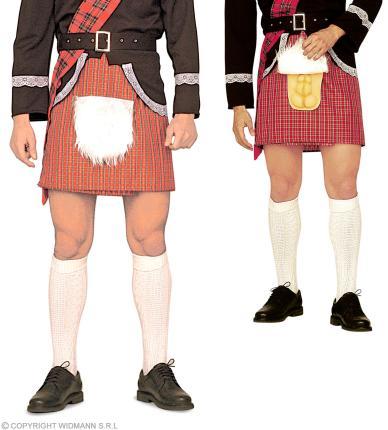 Schottischer Kilt - Schotte Kostüm  mit Überraschung