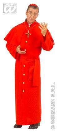 Kardinal Kostüm rot Gr. M - Priester Männer Kirche Verkleidung M