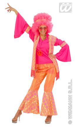 Kostüm Hippie Frau Hippy Blumenkind 70er Jahre Gr. XL
