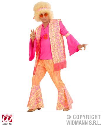 Kostüm Hippie Blumenkind Hippy Mann Gr. M