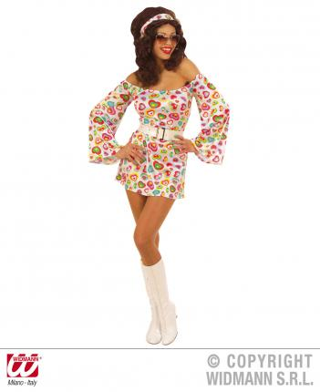 Kostüm Süße 70er Jahre Kleid Größe M  Blumenkleid Disco Verkleidung 70 ties M