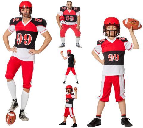 Wilbers American Football Kostüm 128 - 164 cm Kinder 128 cm - 5-7 Jahre