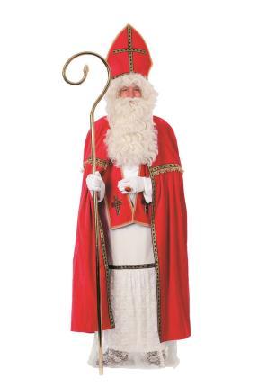 Bischofsrobe 5 tlg. Sankt Nikolaus Kostüm Nikolauskostüm Santa Claus von Wilbers