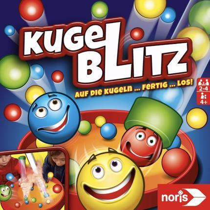 Noris Spiel - Kugelblitz - Kinder Gesellschaftsspiele Geschicklichkeitsspiele ab 4 Jahren