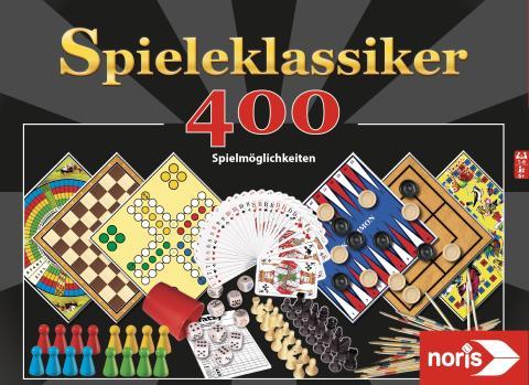 Noris Spielesammlung - 400 Spielmöglichkeiten - Spieleklassiker - Gesellschaftsspiel