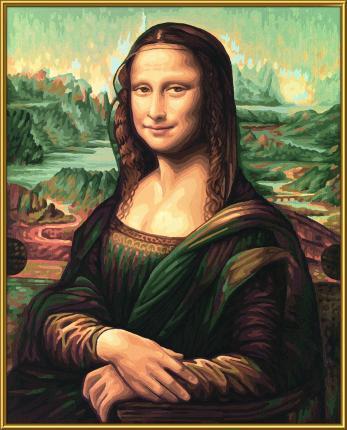 Malen nach Zahlen - Mona Lisa - Meisterklasse Premium
