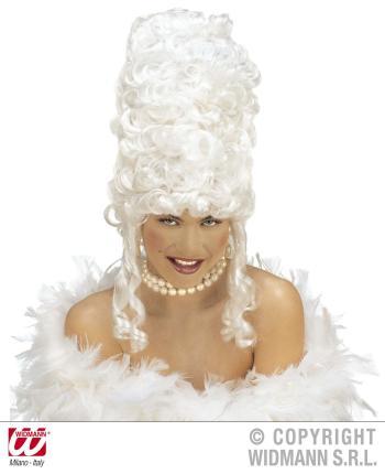 Perücke Antoinette Rokoko in weiß - Theaterperücke