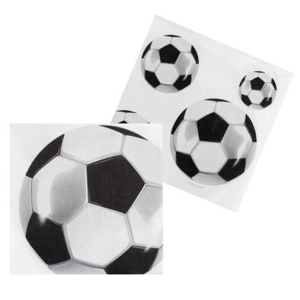 12 Fußball Servietten 33 x 33 cm Fußballparty Deko