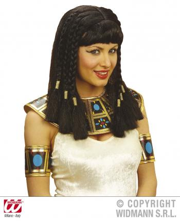 Perücke schwarz Kleopatra mit Pony Cleopatra Perücke
