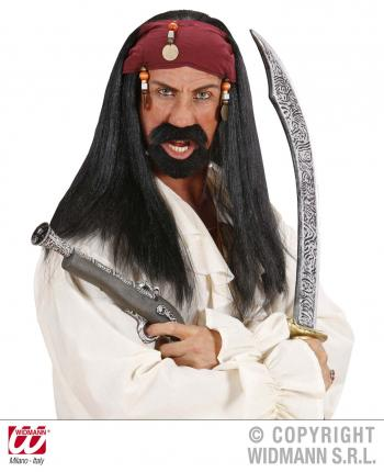 Piraten Perücke mit Kopfband - Piratenperücke