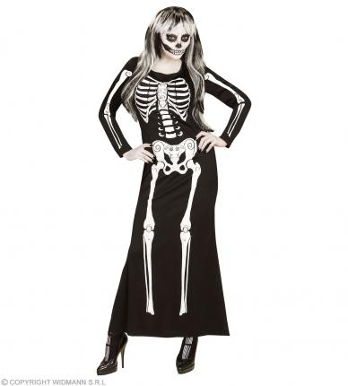 Damen Skelett Kleid Skelegance  - Halloween Skelettkleid