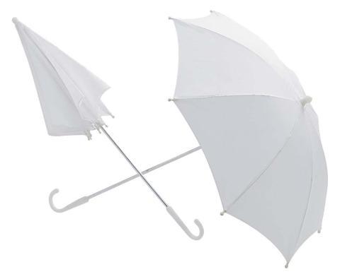 Weißer Regenschirm 60 cm