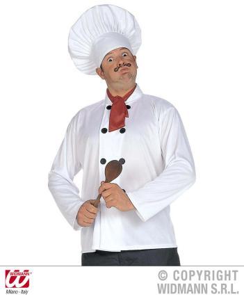Chefkoch Kostüm mit Kochmütze, Jacke, Tuch - Küchenchef