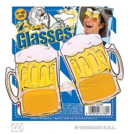 Brille Oktoberfest Bier
