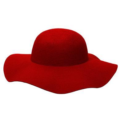 Damenhut - selbst verzieren - Filzhut - eigene Deko  Hut - viele Farben rot