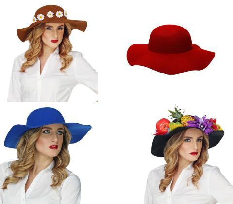 Damenhut - selbst verzieren - Filzhut - eigene Deko  Hut - viele Farben
