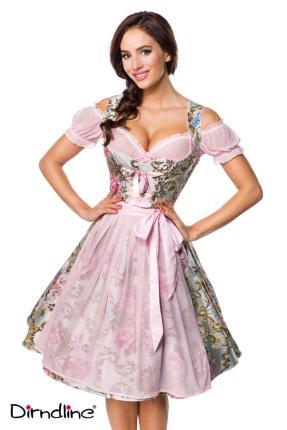 Premium Brokat- Dirndl inkl. Bluse von Dirndline -rosa Oktoberfest Gr S - 3XL