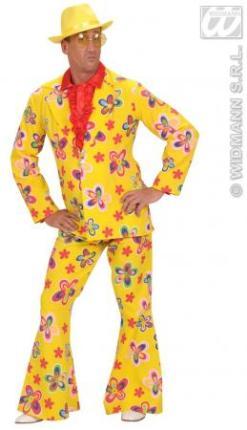 Flower Party Anzug - Herren Anzug Blumen Gr. M  Herren Flower Party Anzug Gr. M - gelb