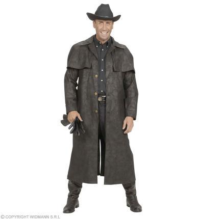 Kostüm Revolverheld Mantel schwarz Bandit Cowboy - Kopfgeldjäger