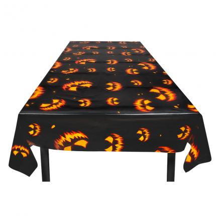 PE Tischdecke 120 x 180 cm Creepy Pumpkin - Halloween Kürbis Tisch Decke