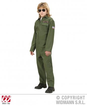 Kampfjet Pilot Kostuem - Jet Pilot Verkleidung Gr. 164