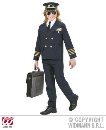Kostüm Pilot Kinder Größe 140 cm - Pilotenverkleidung