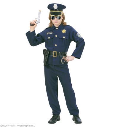 Kostüm Polizist - Zweiteiler - Jungenkostüm Polizei M - 140 cm