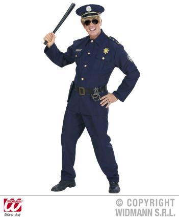 Kostüm Polizist - Zweiteiler Größe S  Polizei Verkleidung Cop Polizeikostüm